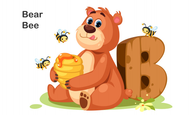 THE BEAR AND THE BEES // Con gấu và bầy ong